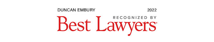 Duncan Embury recognized by Best Lawyers, 2022