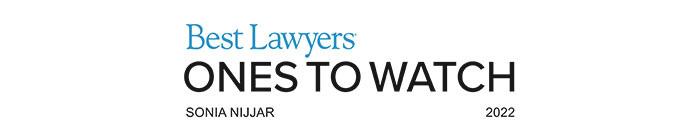 Sonia Nijjar recognized by Best Lawyers, 2022