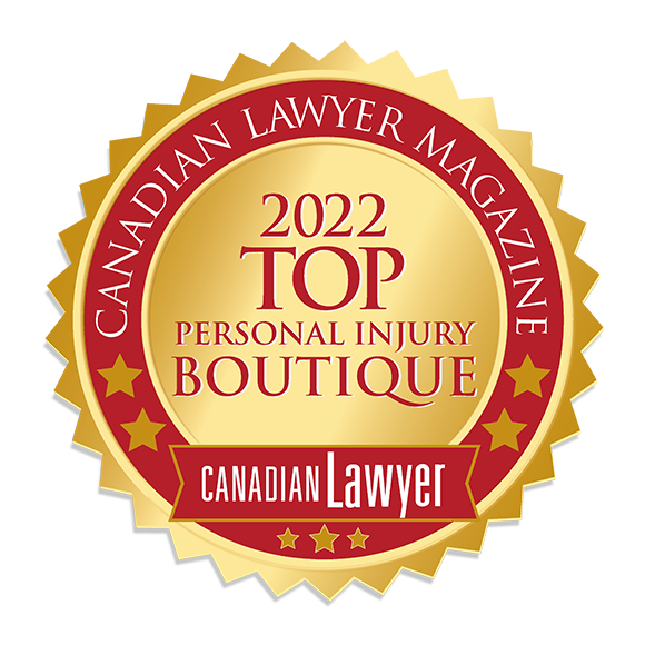 Canadian Lawyer Magazine Award for Top 10 Personal Injury Boutiqe Law Firm in Ontario