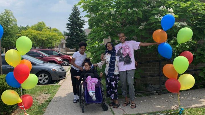 Sabrin Farej and her family